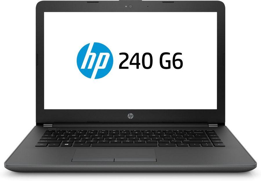 """Ноутбук HP 240 G6, 14"""",  Intel  Core i3  7020U 2.3ГГц, 4Гб, 500Гб,  Intel HD Graphics  620, DVD-RW, Free DOS 2.0, 4BC99EA,  черный"""