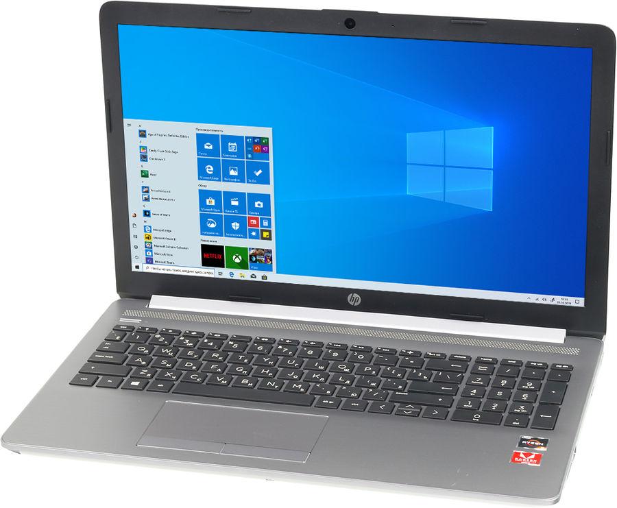 "Ноутбук HP 255 G7, 15.6"",  AMD  Ryzen 3  2200U 2.5ГГц, 8Гб, 128Гб SSD,  AMD Radeon  Vega 3, DVD-RW, Windows 10 Home, 7QK48ES,  серебристый"