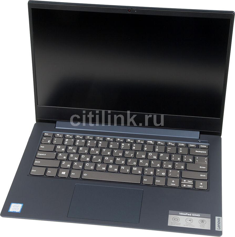 "Ноутбук LENOVO IdeaPad S340-14IWL, 14"",  IPS, Intel  Core i5  8265U 1.6ГГц, 8Гб, 256Гб SSD,  Intel UHD Graphics  620, Windows 10, 81N700PTRU,  синий"