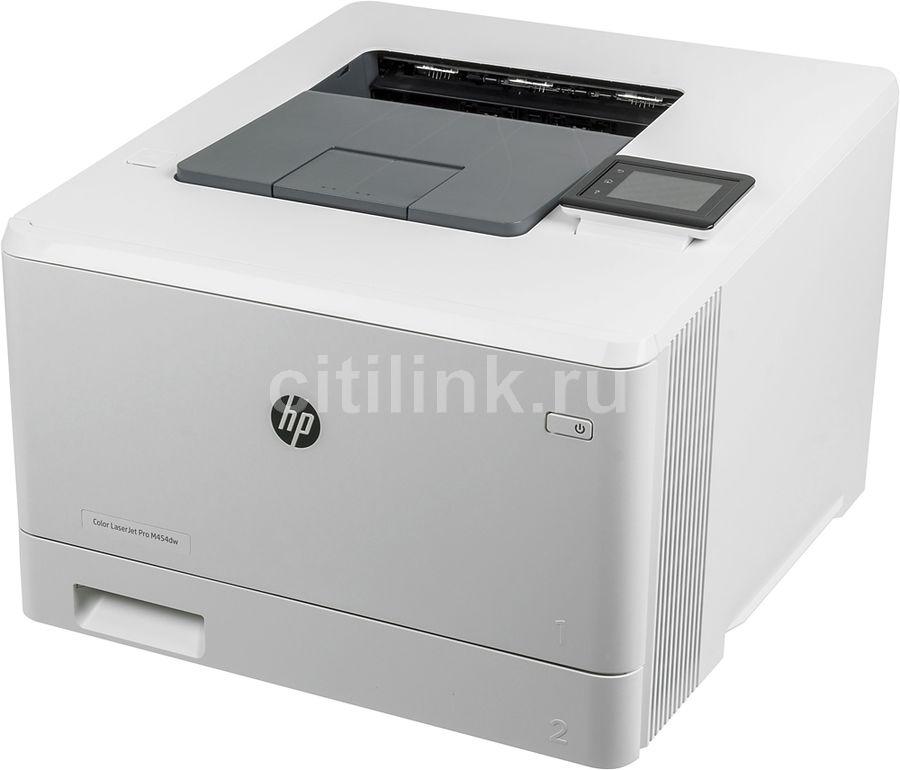 Принтер лазерный HP Color LaserJet Pro M454dw лазерный, цвет:  белый [w1y45a]