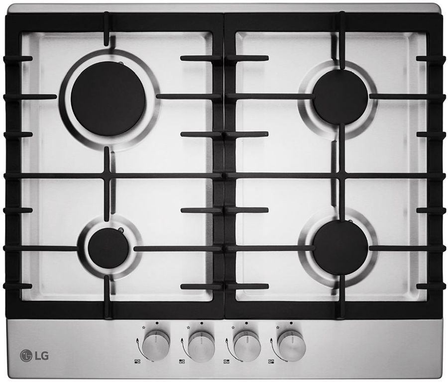Варочная панель LG HU641BAG,  независимая,  нержавеющая сталь
