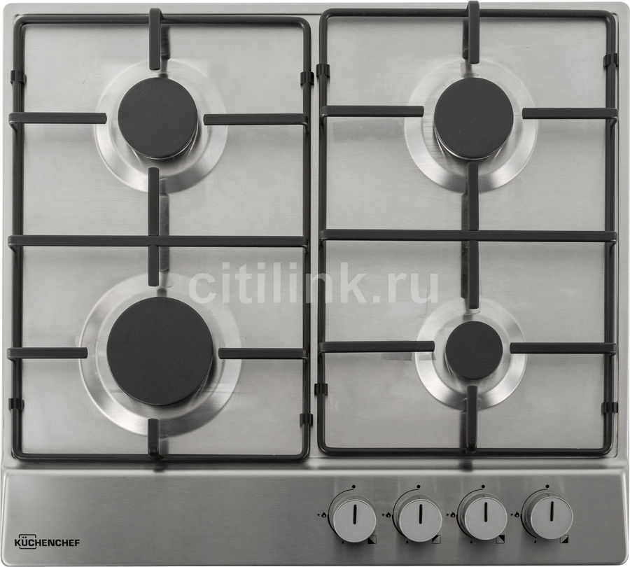 Варочная панель KUCHENCHEF KHG611AIX,  независимая,  нержавеющая сталь