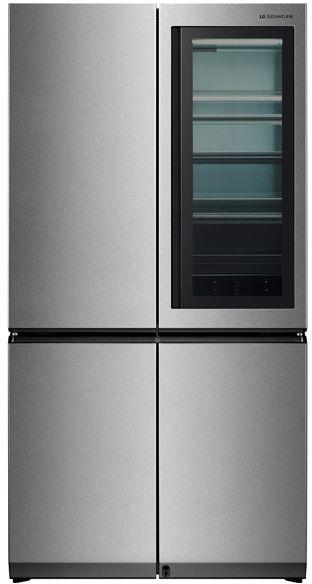 Холодильник LG LSR100RU,  трехкамерный, нержавеющая сталь