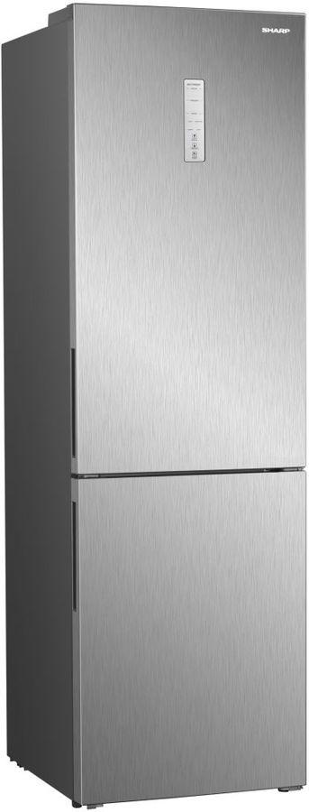 Холодильник SHARP SJ-B340XSIX,  двухкамерный, серебристый металлик
