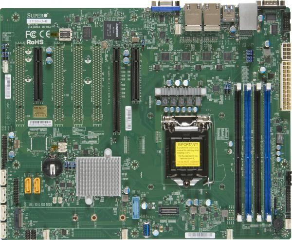 Серверная материнская плата SUPERMICRO MBD-X11SSi-LN4F-O,  Ret