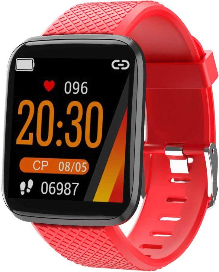 "Смарт-часы SMARTERRA FitMaster Aura,  1.3"",  красный / красный [fmaur]"