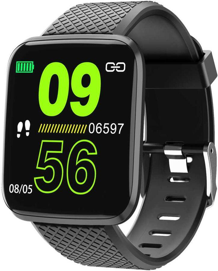 """Смарт-часы SMARTERRA FitMaster Aura,  1.3"""",  черный / черный [fmaub]"""