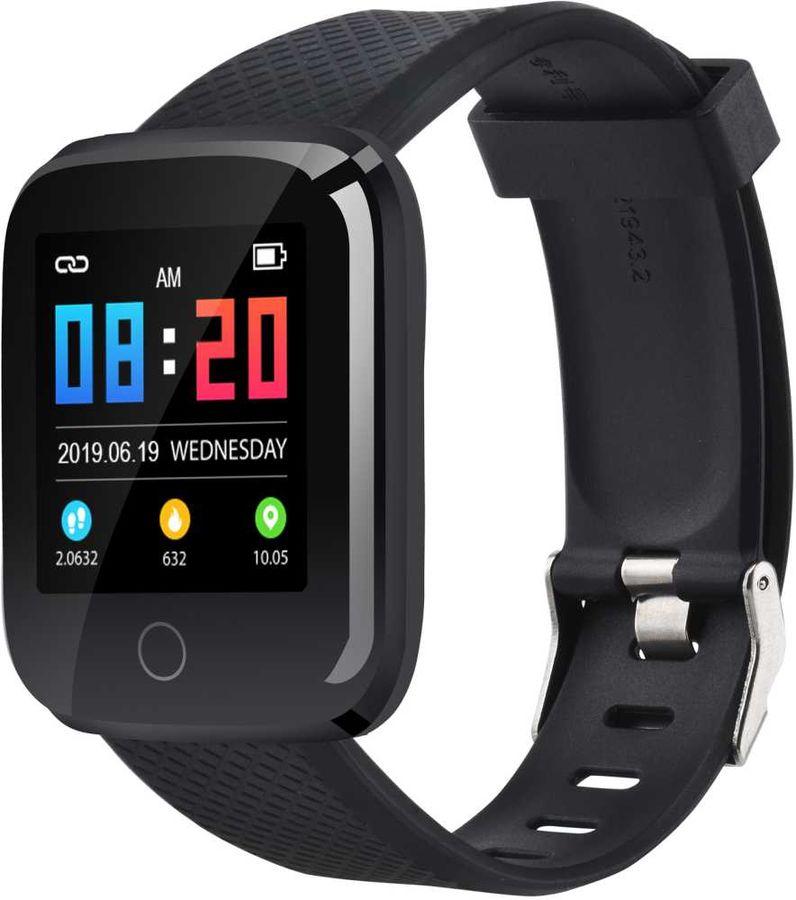 """Смарт-часы DIGMA Smartline D2e,  1.3"""",  черный / черный"""