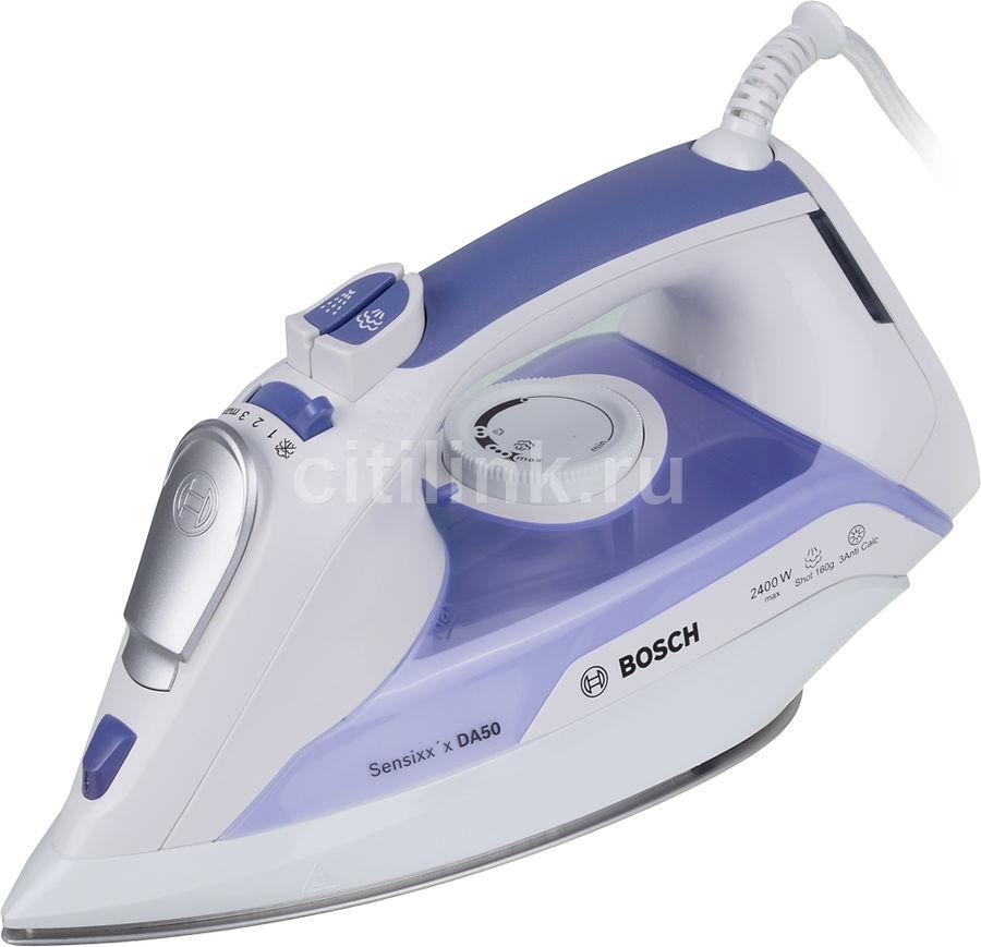 Утюг BOSCH TDA5024010,  2400Вт,  белый/ фиолетовый