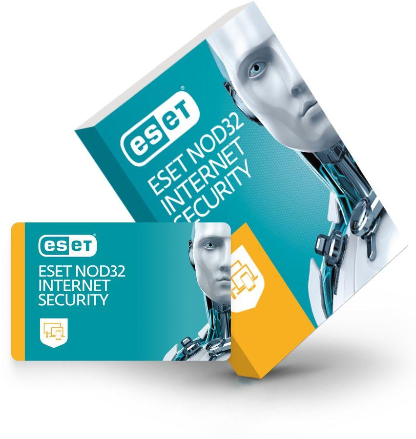 ПО Eset NOD32 Internet Security 1 год или продл 20 мес 3 устройства 1 год Box (NOD32-EIS-1220(BOX)-1