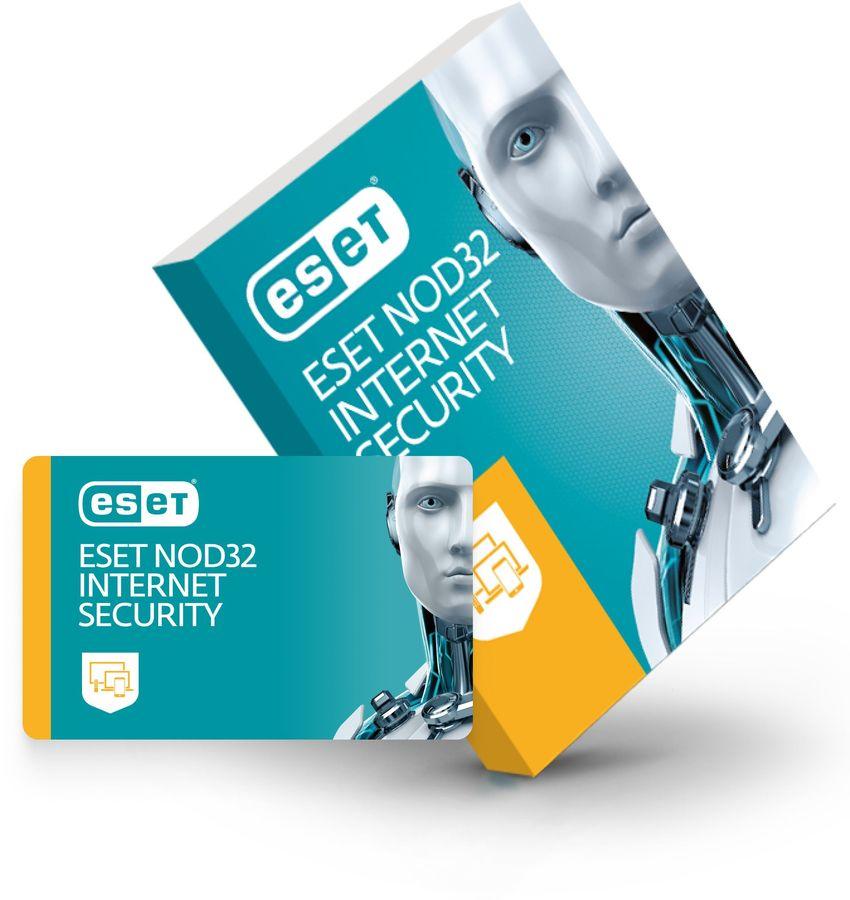 ПО Eset NOD32 Internet Security продление 3 устройства 1 год Box (NOD32-EIS-RN(BOX)-1-3)