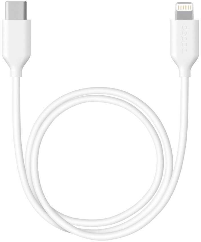 Кабель DEPPA USB Type-C (m),  Lightning (m),  1.2м,  MFI,  белый [72231]