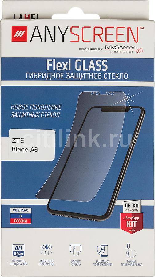 Защитное стекло для экрана  Lamel Flexi  для ZTE Blade A6,  гибридная, 1 шт [401132]