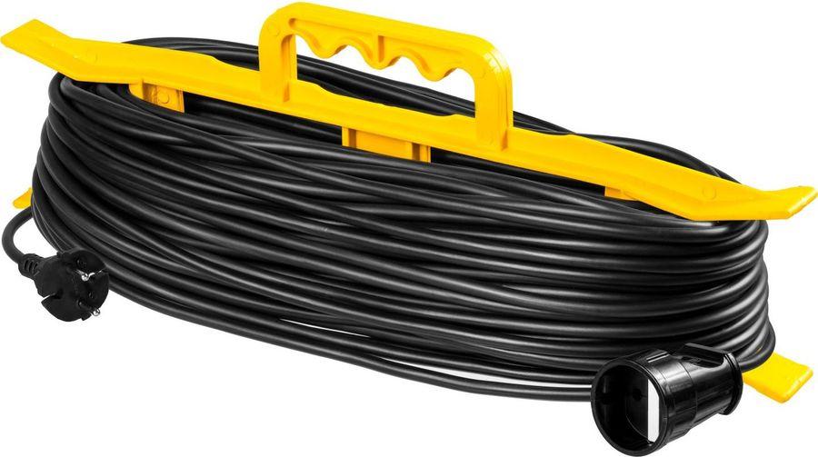 Удлинитель силовой Stayer 55018-50_z01 2x0.75кв.мм 1розет. 50м ПВС 10A пласт.рамка черный