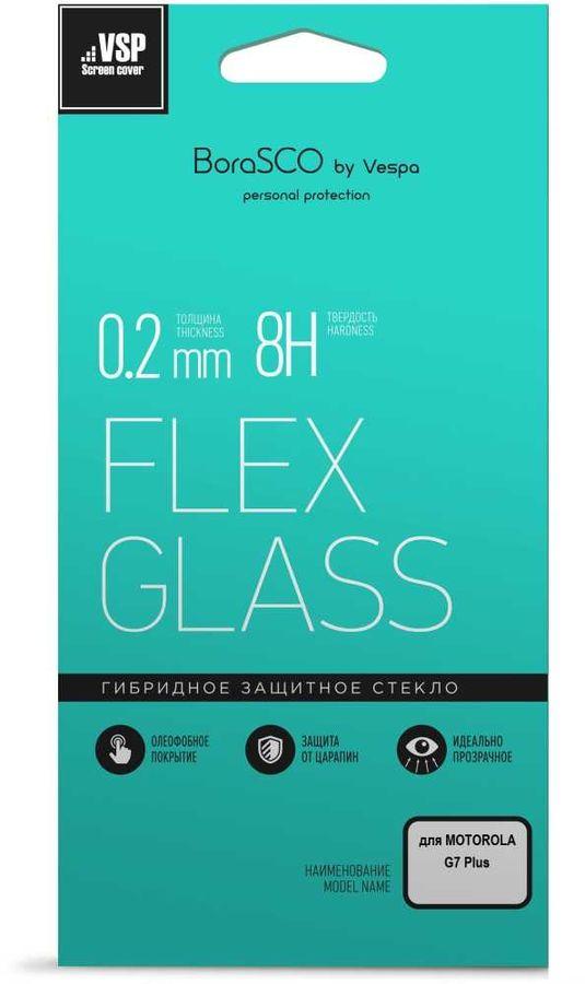 Защитное стекло для экрана  VSP Flex  для Motorola G7 Plus,  гибридная, 1 шт, прозрачный [37266]