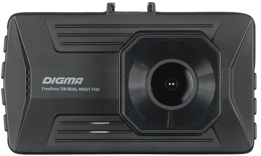 Видеорегистратор DIGMA FreeDrive 208 DUAL Night FHD,  черный [freedrive 208d]