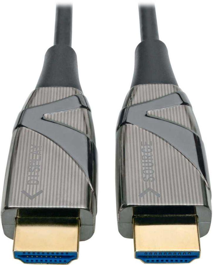 Кабель оптический TRIPPLITE HDMI (m)  -  HDMI (m) ,  ver 2.0, 20м, черный,  блистер [p568-20m-fbr]