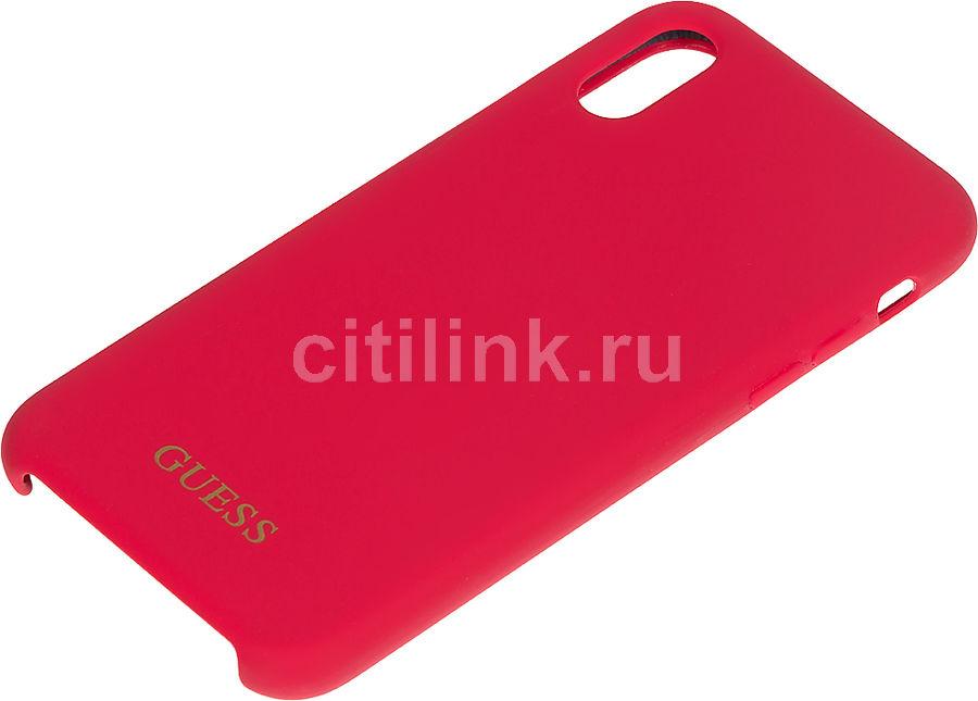 Чехол (клип-кейс)  Guess, для Apple iPhone X/XS, красный [guhcpxlsglre]