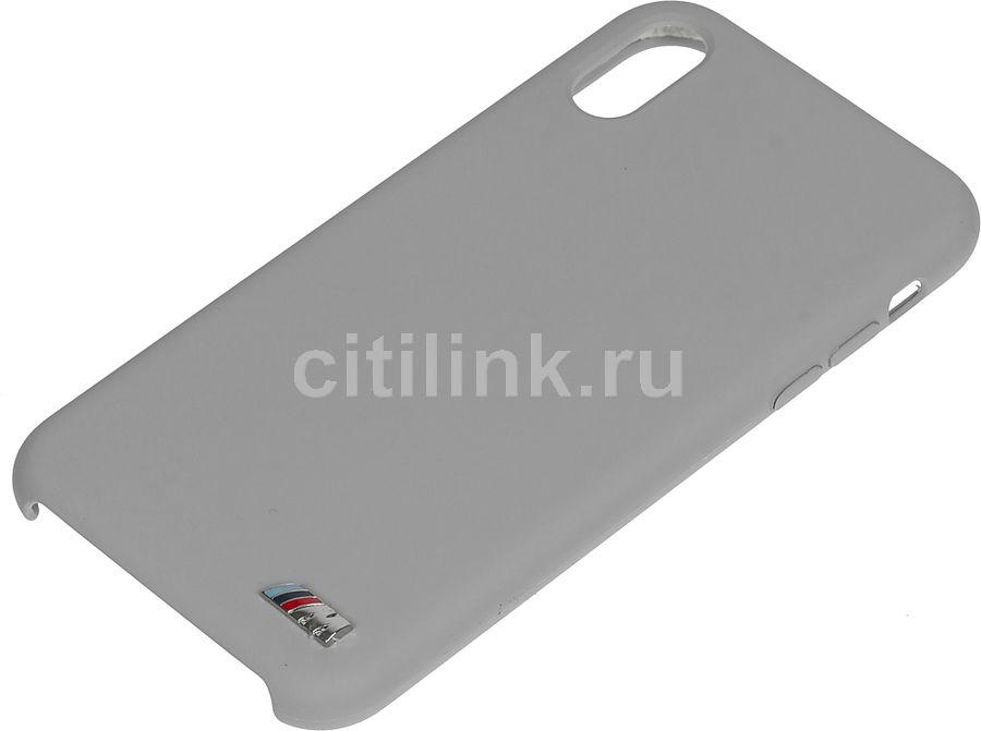 Чехол (клип-кейс)  BMW Signature, для Apple iPhone XR, серый [bmhci61msilgr]