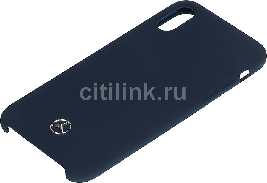 Чехол (клип-кейс)  Mercedes Silicone Line, для Apple iPhone X/XS, темно-синий [mehcpxsilna]