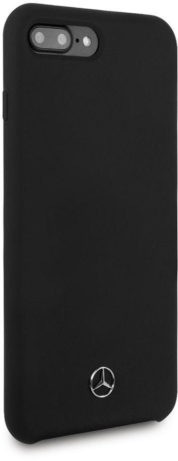 Чехол (клип-кейс)  Mercedes Silicone Line, для Apple iPhone 7 Plus/8 Plus, черный [mehci8lsilbk]