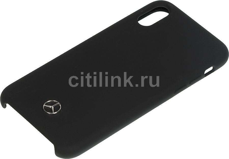 Чехол (клип-кейс)  Mercedes Silicone Line, для Apple iPhone X/XS, черный [mehcpxsilbk]