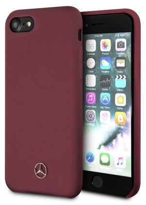 Чехол (клип-кейс)  Mercedes Silicone Line, для Apple iPhone 7/8, красный [mehci8silre]