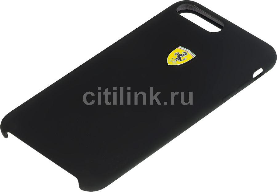 Чехол (клип-кейс)  Ferrari, для Apple iPhone 7 Plus/8 Plus, черный [fessihci8lbk]