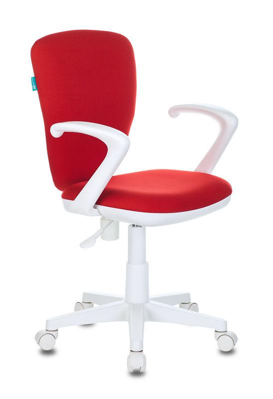 Кресло детское БЮРОКРАТ KD-W10AXSN, на колесиках, ткань, красный [kd-w10axsn/26-22]