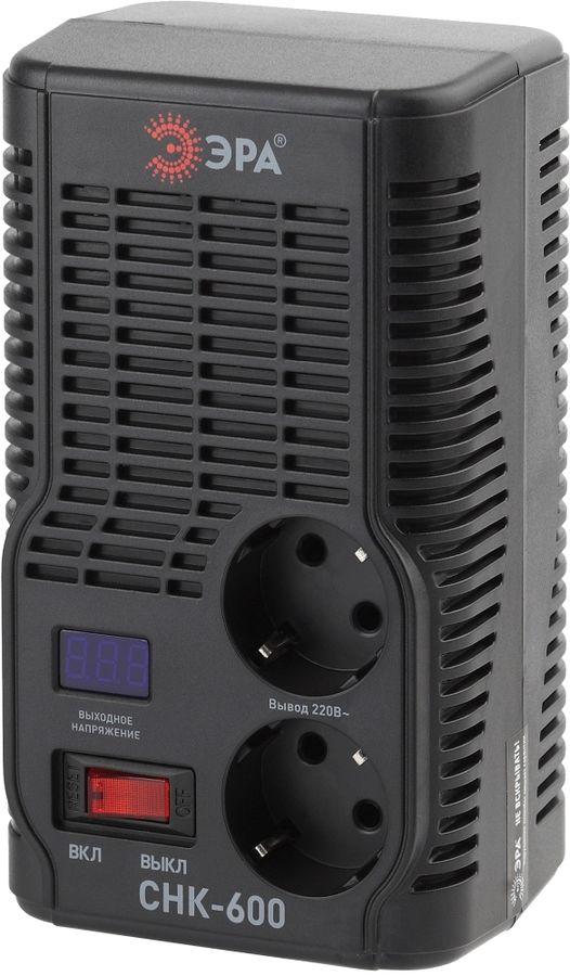 Стабилизатор напряжения ЭРА СНК-600,  черный [б0032468]