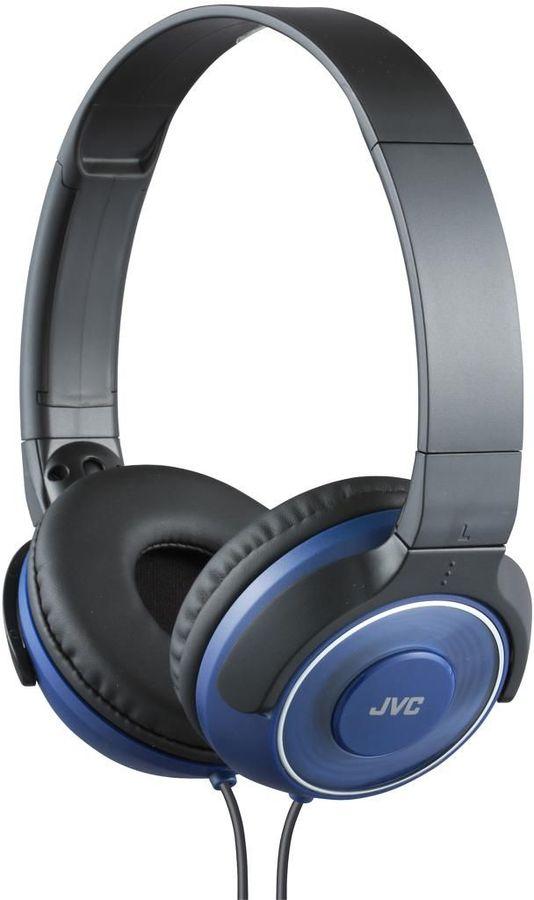 Наушники JVC HA-S220, 3.5 мм, накладные, синий/черный [ha-s220-a-e]