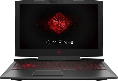 """Ноутбук HP Omen 15-ce010ur, 15.6"""",  IPS, Intel  Core i7  7700HQ 2.8ГГц, 8Гб, 1000Гб,  128Гб SSD,  nVidia GeForce  GTX 1050 Ti - 4096 Мб, Windows 10, 1ZB04EA,  черный"""