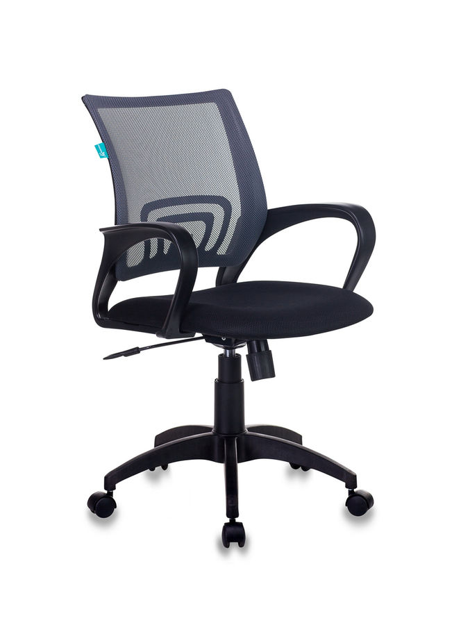 Кресло БЮРОКРАТ CH-695N, на колесиках, ткань, черный [ch-695n/dg/tw-11]