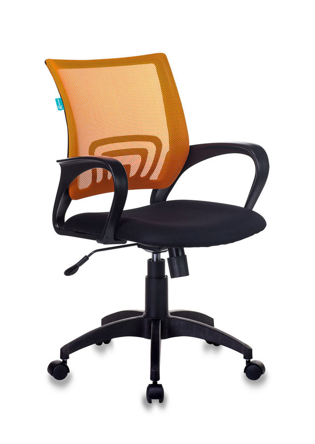 Кресло БЮРОКРАТ CH-695N, на колесиках, ткань, оранжевый [ch-695n/or/tw-11]