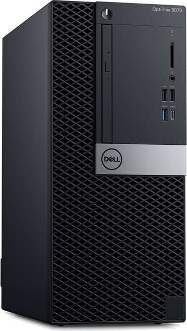 Компьютер  DELL Optiplex 5070,  Intel  Core i7  9700,  DDR4 8Гб, 256Гб(SSD),  Intel UHD Graphics 630,  DVD-RW,  Windows 10 Professional,  черный [5070-4784]