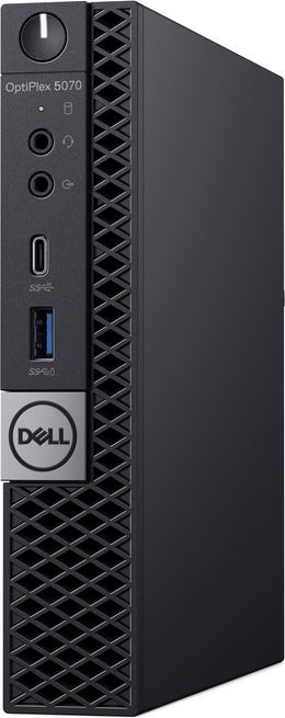Компьютер  DELL Optiplex 5070,  Intel  Core i7  9700T,  DDR4 8Гб, 256Гб(SSD),  Intel UHD Graphics 630,  Windows 10 Professional,  черный [5070-4845]