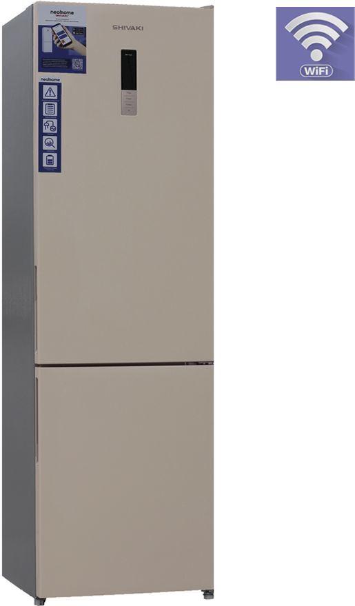 Холодильник SHIVAKI BMR-2015DNFBE,  двухкамерный, бежевый