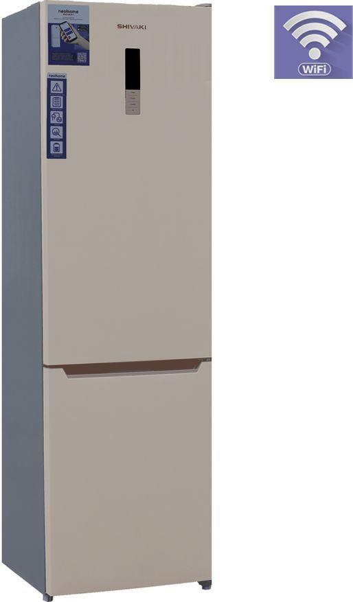 Холодильник SHIVAKI BMR-2016DNFBE,  двухкамерный, бежевый