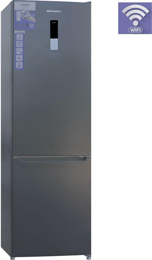 Холодильник SHIVAKI BMR-2016DNFX,  двухкамерный, нержавеющая сталь