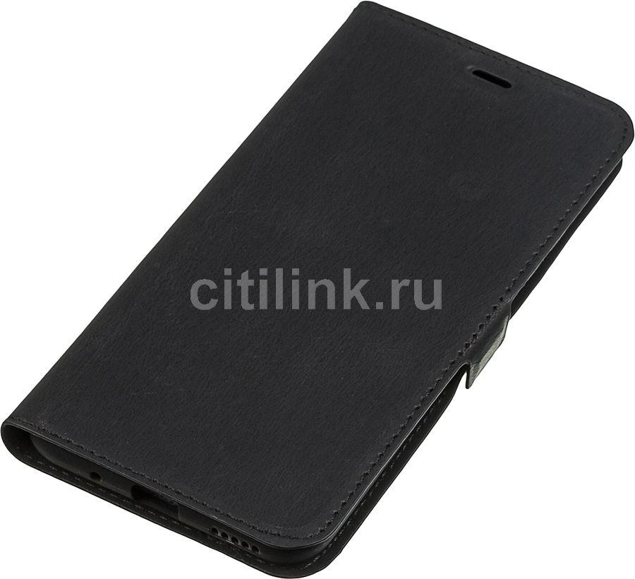 Чехол (флип-кейс) DF hwFlip-73, для Huawei Honor 20 Pro, черный [df hwflip-73 (black)]