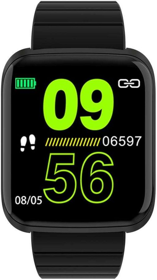 "Смарт-часы SMARTERRA FitMaster Aura Pro,  1.3"",  титан / черный [fmauprobl]"