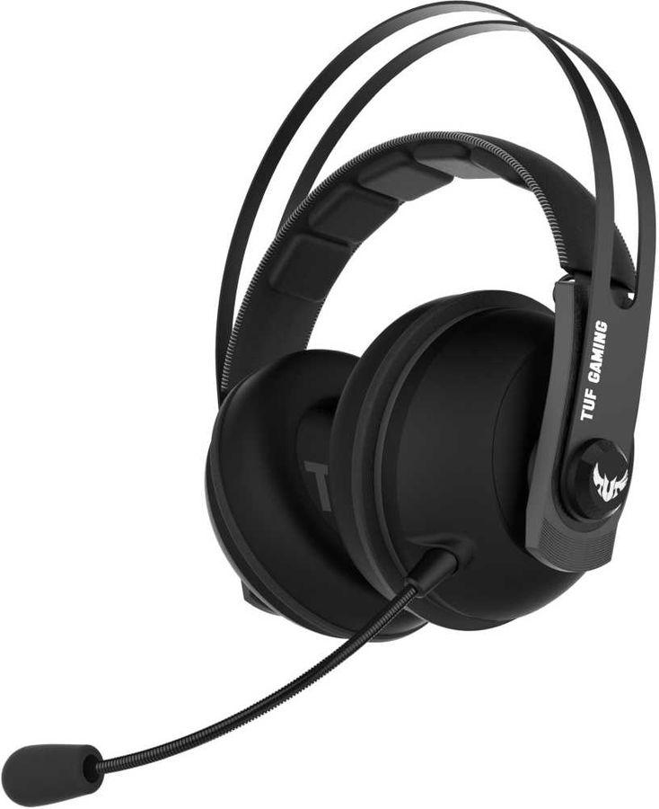 Гарнитура игровая ASUS TUF Gaming H7 CORE,  для компьютера, накладные,  черный  / серый [90yh021g-b1ua00]