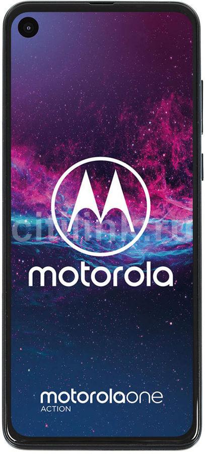 Смартфон MOTOROLA One Action 128Gb,  XT2013-2,  синий