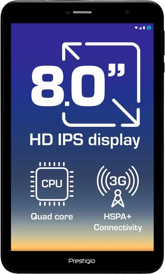 Планшет PRESTIGIO Grace 8 3G,  1GB, 16GB, 3G,  Android 8.1 черный