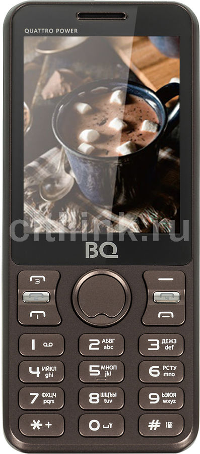 Мобильный телефон BQ Quattro Power 2812,  коричневый