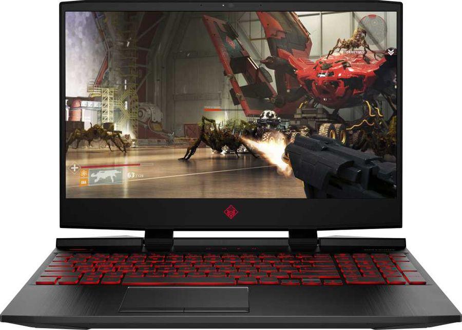 """Ноутбук HP Omen 15-dc1029ur, 15.6"""",  IPS, Intel  Core i5  9300H 2.4ГГц, 16Гб, 1000Гб,  256Гб SSD,  nVidia GeForce  GTX 1660 Ti - 6144 Мб, Windows 10, 6WJ96EA,  черный"""