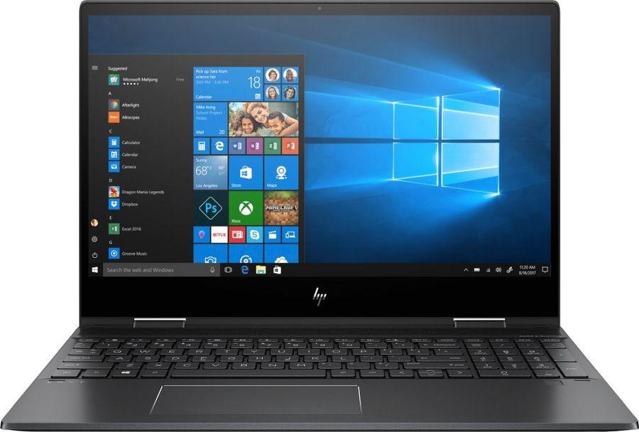 """Ноутбук-трансформер HP Envy x360 15-ds0000ur, 15.6"""",  IPS, AMD  Ryzen 3  3300U 2.1ГГц, 8Гб, 256Гб SSD,  AMD Radeon  Vega 6, Windows 10, 6PS65EA,  черный"""