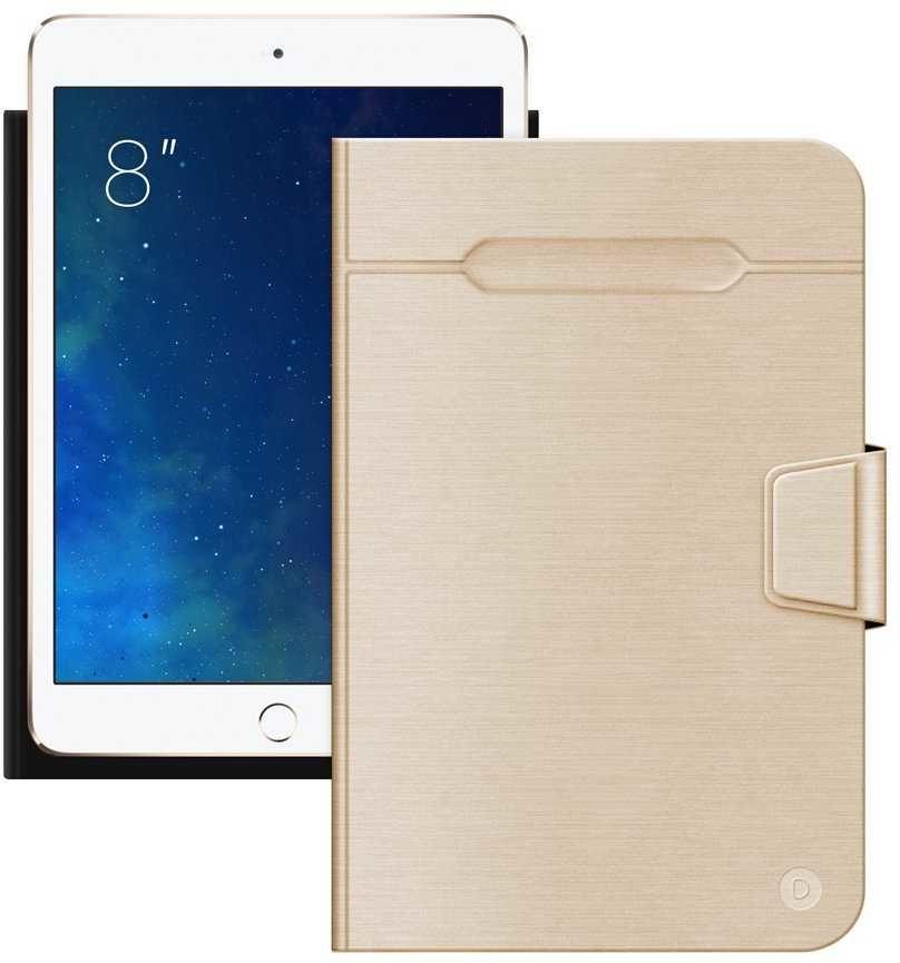 """Чехол для планшета DEPPA Wallet Fold,  золотистый, для  планшетов 8"""" [87032]"""
