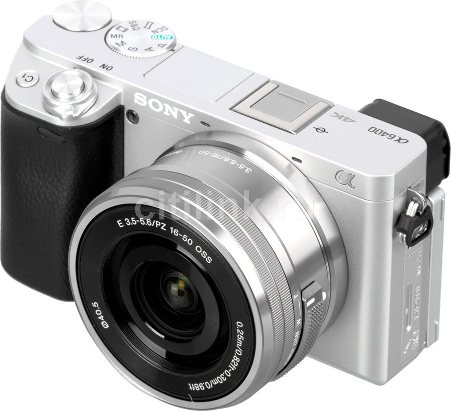 Фотоаппарат SONY Alpha A6400LS kit ( E PZ 16-50мм f/3.5-5.6 OSS), серебристый