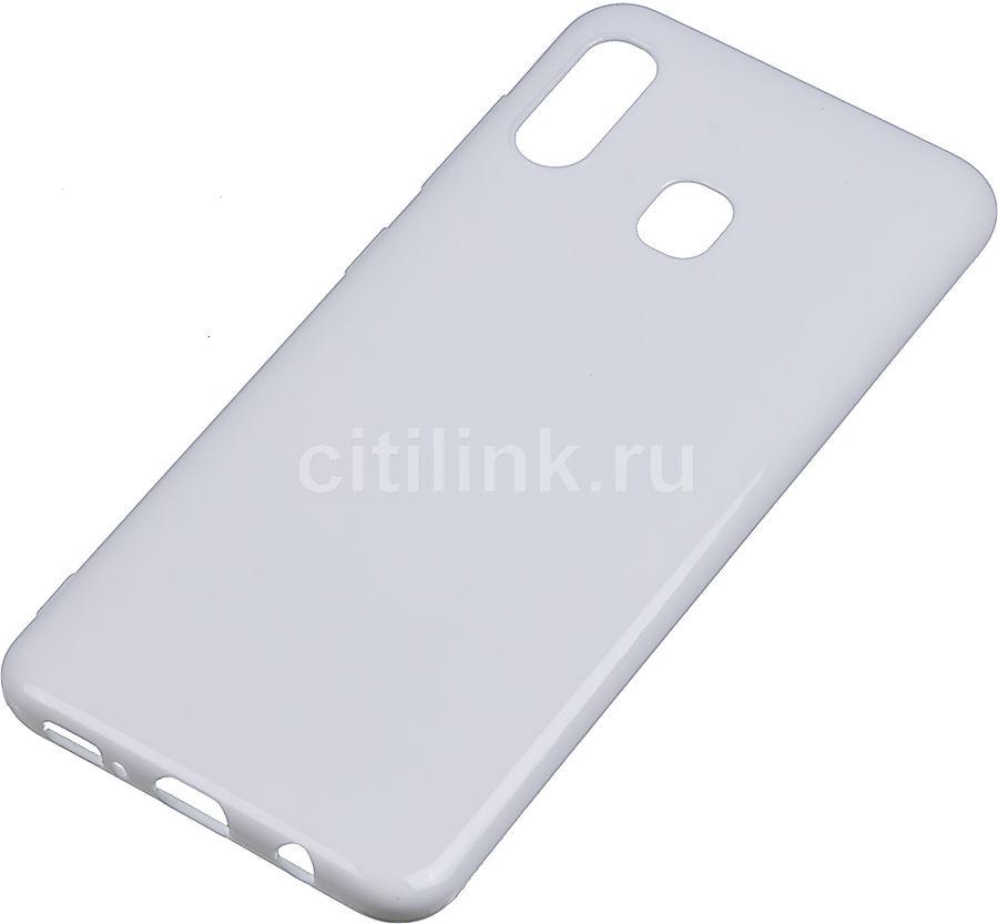 Чехол (клип-кейс) DEPPA Gel Color, для Samsung Galaxy A20/A30, белый [86654]
